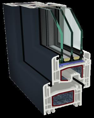 Sistemas de abrir s8000 74mm gealan